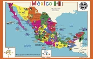 map of mexico for bilingual babies in los angeles