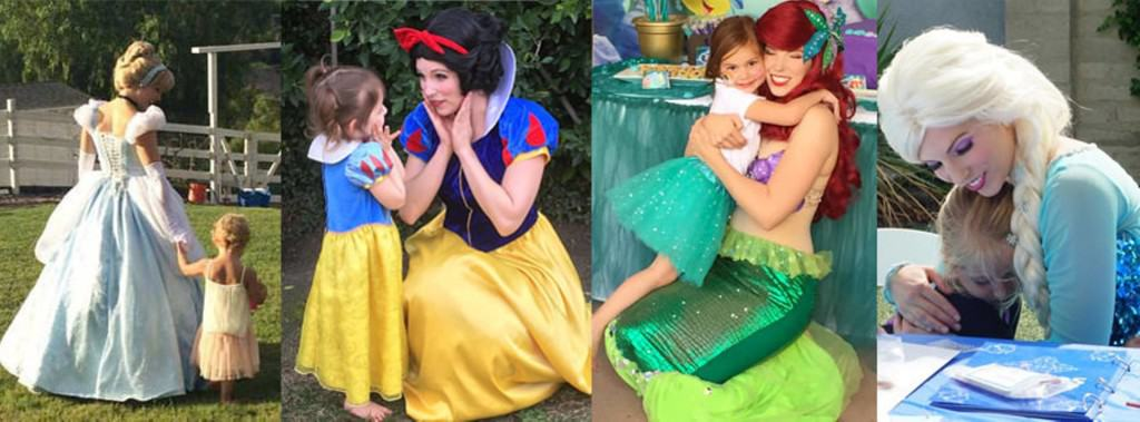 princess and me parties best los angeles character company cinderella snow white mermaid ariel elsa frozen rapunzel tinkerbell sofia sophia first