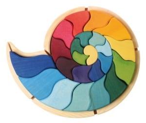 ammonite snail eco wooden toy eco-friendly